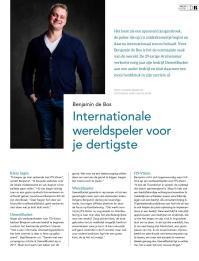 Benjamin de Bos had voor zijn dertigste al een carrière waar veel mensen van dromen. https://issuu.com/driestedenbusiness/docs/driestedenbusiness_2_web
