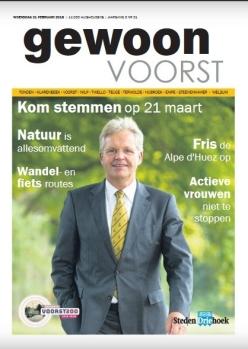 Cover special 'Gewoon Voorst' uit week 8, 2018. https://issuu.com/stedendriehoek/docs/nieuwsblad_stedendriehoek_gewoon_vo_e92209484b94a3