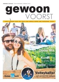Cover 'Gewoon Voorst' van juni 2018. https://issuu.com/stedendriehoek/docs/gewoon_voorst_wk26