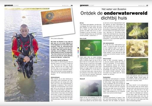 Harry van der Willigen van Bussloo Divers vertelt enthousiast over het onderwaterpark in Bussloo.