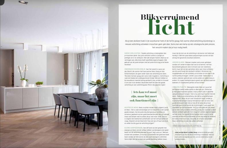 Bedrijfsprofiel van Van den Bosch verlichting. Meer dan lampenverkoop alleen. https://issuu.com/liselotte48/docs/omwonen_editie5