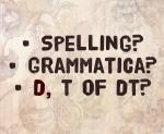 spelling, grammatica, d/dt