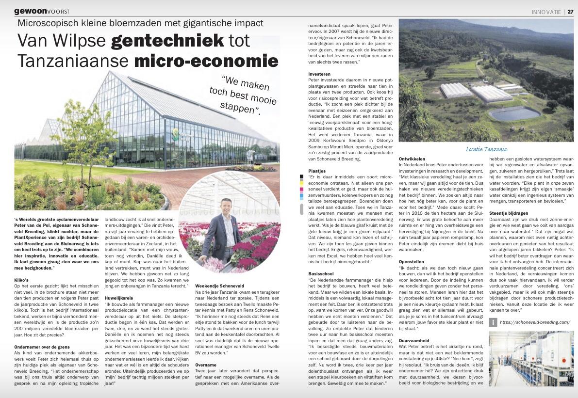 Gewoon voorst reportage Peter van de Pol Schoneveld Breeding Wilp